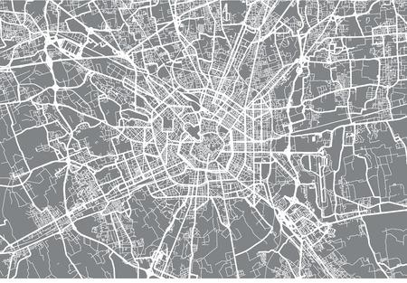 Stedelijke vector stadsplattegrond van Milaan, Italië Vector Illustratie