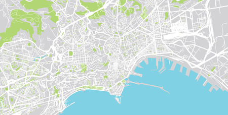 Urban Vector City Map Of Naples, Italy Stock Photo, Picture And ...