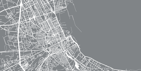Urban vector city map of Palermo, Italy