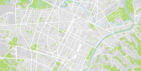Urban vector city map of Turin, Italy Stock Photo