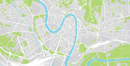 Urban vector city map of Verona, Italy