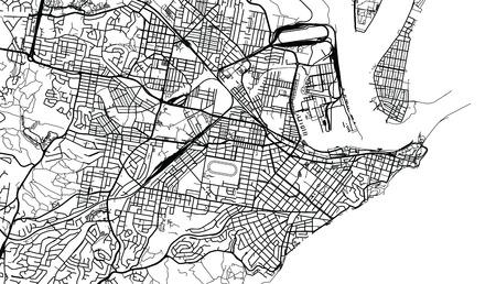 Urban vector city map of Newcastle, Australia Stock Photo
