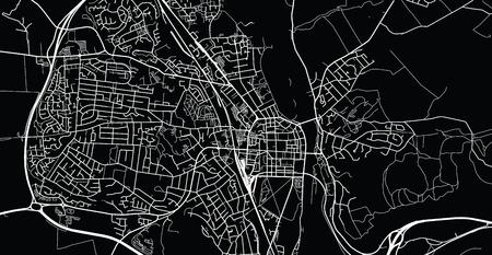 Urban vector city map of Perth, Scotland Vektorové ilustrace