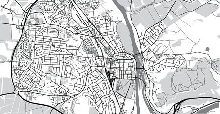 Urban vector city map of Perth, Scotland
