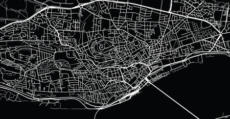 Urban vector city map of Dundee, Scotland Vector Illustration