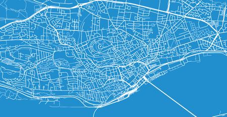 Urban vector city map of Dundee, Scotland Stock Photo