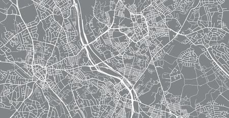 Urban vector city map of Stoke on Trent, England 向量圖像