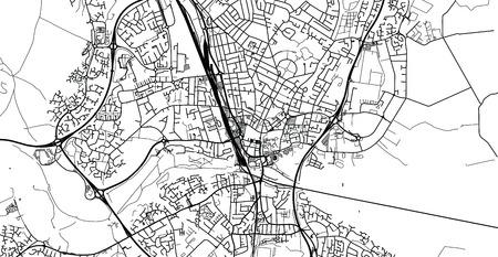 Urban vector city map of Peterborough, England Ilustração