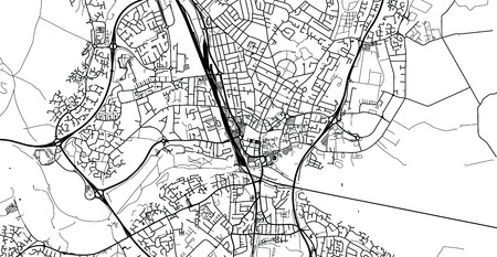 Urban vector city map of Peterborough, England 向量圖像