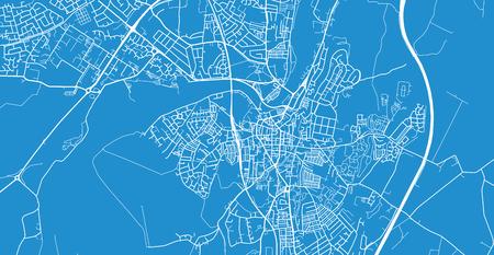 Urban vector city map of Lancaster, England Illustration