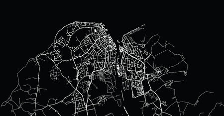 Urban vector city map of Cowes, England
