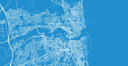 Urban vector city map of Sunderland, England Illustration