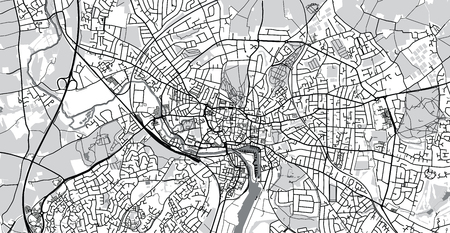 Urban vector city map of Ipswich, England Reklamní fotografie