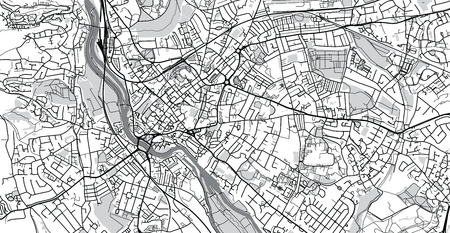 Urban Vector City Map Of Exeter England Stock Photo Picture And