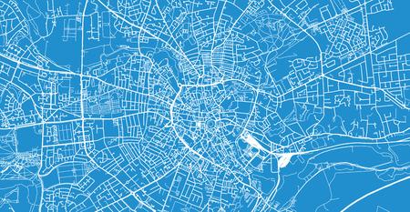 Urban vector city map of Norwich, England