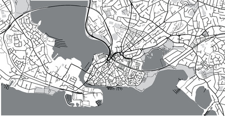 Poole England Map.Urban Vector City Map Of Poole England Stock Photo Picture And