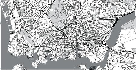 Urban vector city map of Plymouth, England Stock Photo - 112654731