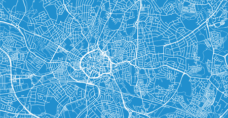 Urban vector city map of Coventry, England Stock Photo