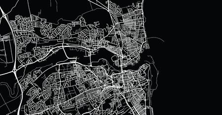 Urban vector city map of Sunderland, England Stock Photo