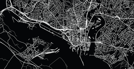 Urban vector city map of Southampton, England