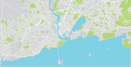 Urban vector city map of Galway, Ireland Stock Photo