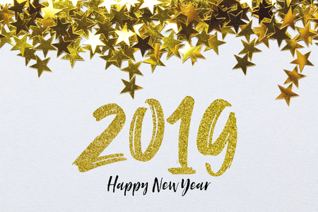 2019 Happy New Year party background