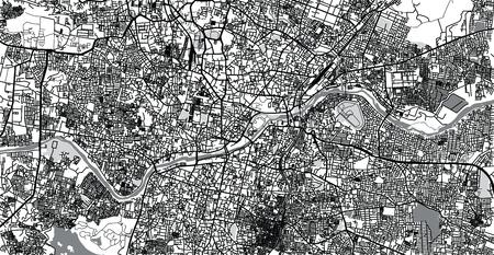 Urban vector city map of Hyderabad, India