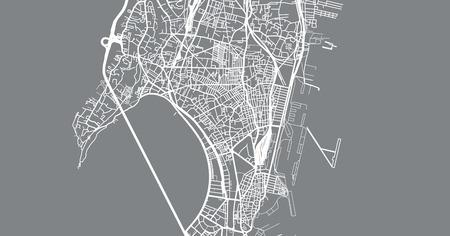 Urban vector city map of Mumbai, India