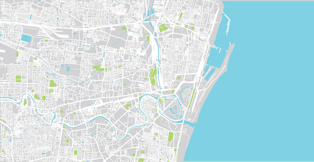 Urban vector city map of Chennai, India