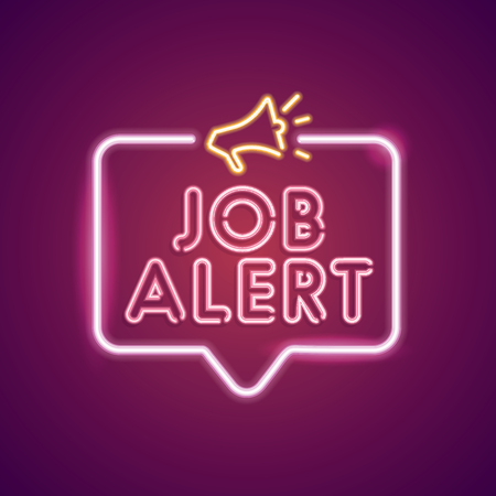 Job Alert neon employment sign