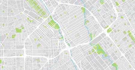 Urban vector city map of SanJose, California, United States of America