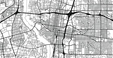 Urban Vector City Map Of Albuquerque, New Mexico, United States ...