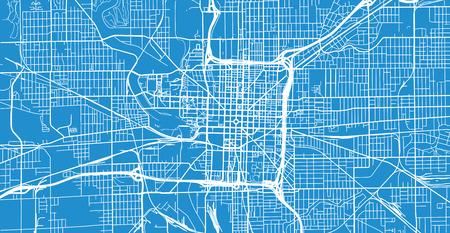 Städtischer Vektorstadtplan von Indianapolis, Indiana, Vereinigte Staaten von Amerika Vektorgrafik