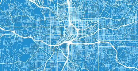 Urban vector city map of Atlanta, Georgia, United States of America