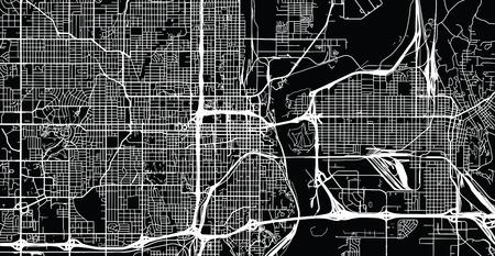 Urban vector city map of Omaha, Nebraska, United States of America