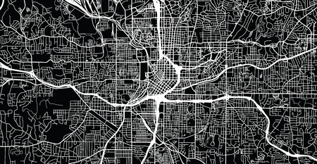Urban vector city map of Atlanta, Georgia, United States of America Vector Illustration