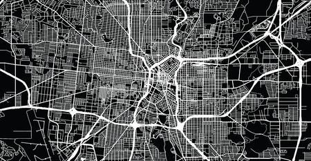 Plan de la ville vectorielle urbaine de San Antonio, Texas, États-Unis d'Amérique