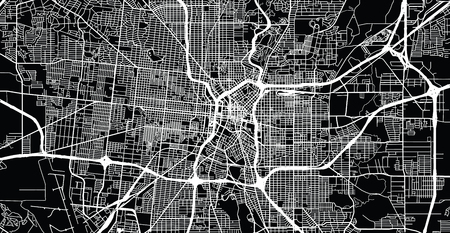 Städtischer Vektorstadtplan von San Antonio, Texas, Vereinigte Staaten von Amerika
