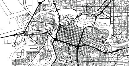 Urban vector city map of Sacramento, California, United States of America