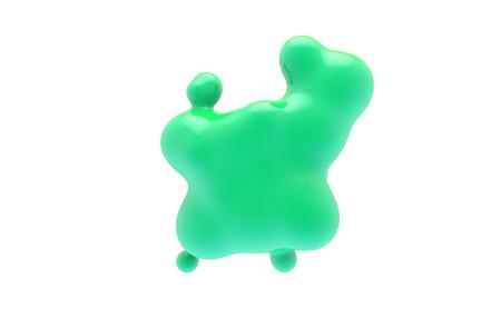 Abstract fluid blob compositions background. colorful liquid shape 3D Rendering. Standard-Bild - 115229565