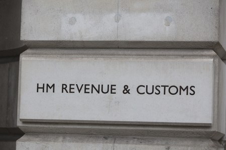 LONDON, UK - JANUARY 15, 2019: HM Revenue and Customs Building in London. The department is responsible for the collection of taxes in the UK Editorial
