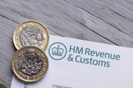 LONDON, UK - January 24th 2019: HMRC, Her Majesty's Revenue and Customs tax return paperwork. Sajtókép