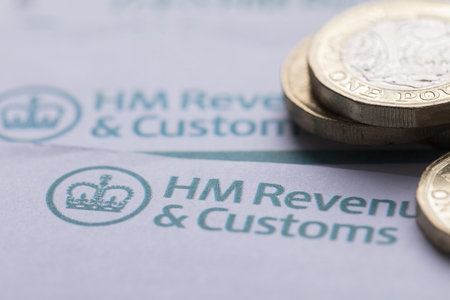 LONDON, UK - January 24th 2019: HMRC, Her Majesty's Revenue and Customs tax return paperwork. Editorial