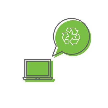 Recycling-Konzept für Elektroschrott Vektorgrafik
