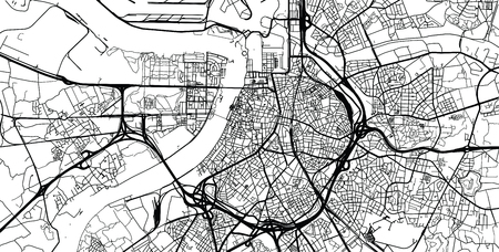 Urban vector city map of Antwerp, Belgium