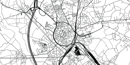 Urban vector city map of Mechelen, Belgium