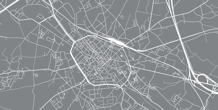 Urban vector city map of Tournai, Belgium