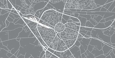 Urban vector city map of Hasselt, Belgium