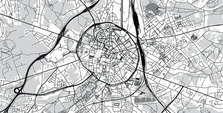 Urban vector city map of Leuven, Belgium