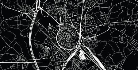 Urban vector city map of Mechelen, Belgium